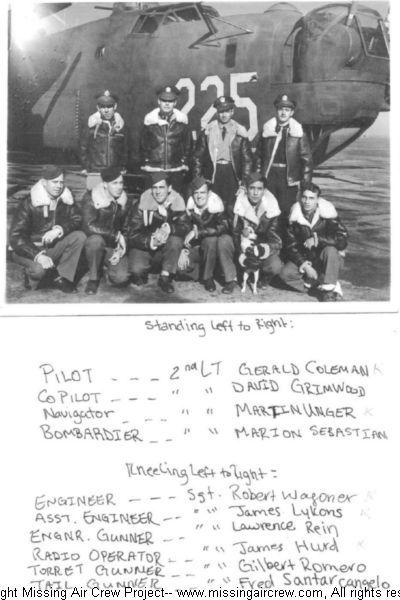 Coleman Crew, 307th BG, 372nd BS