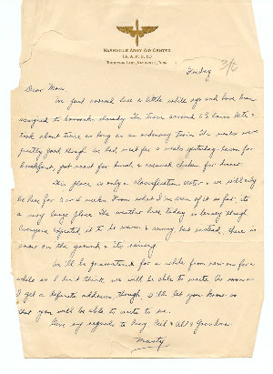 6 March 1943 Letter